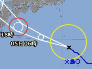 台風8号 台風経路図 20190804