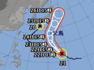 台風21号 台風経路図 20191021