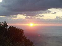 2004年母島から初日の出の映像