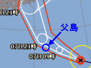 台風15号 台風経路図 20190906