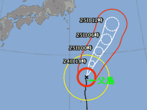 台風21号 台風経路図 20191024