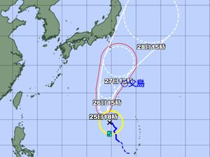 台風5号 台風経路図